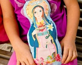 Immaculate Heart of Mary Fabric Doll KIT - Catholic Saint Doll Softie