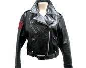 Vintage Brooks Motorcycle Jacket Made In The USA Size 34 Pre-owned Skinny Leather Biker Jacket With In Memory of Vietnam Vets Patch