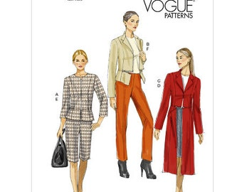 Sz 14 thru 22 -  Vogue Separates Pattern V8865 - Misses' Jacket, Skirt, Shorts and Pants