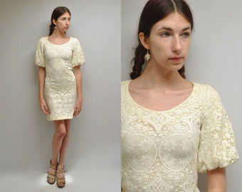 Ivory Lace Dress  //  Boho Wedding Dress  // PETITE CHOUX