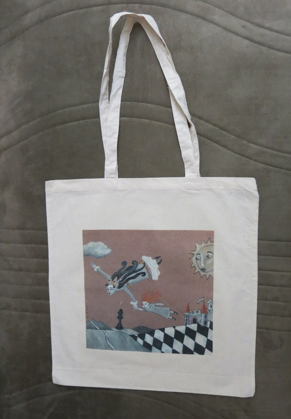 Alice-and-The-Queen Tote Bag