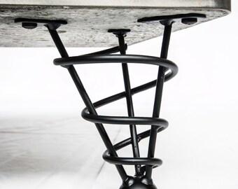 "Handmade Modern Table Legs, 7-1/2"" Sofa Bed, or cabinet Height, Single Leg, Angled"