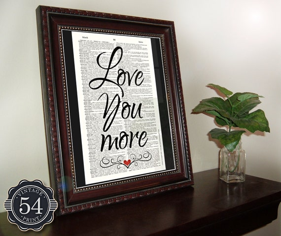Art Print Wedding Gift : Dictionary Art Print Wedding Gift Engagement Gift Anniversary Gift ...
