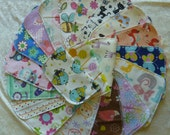 15 Girls Mixed Print, Cloth Napkins, Kids Lunch Napkins, Back To School