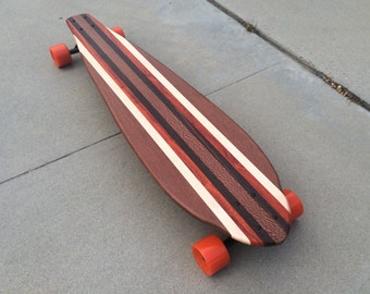 "LONGBOARD - 40 x 10 - Made from Exotic Woods ""Bonny Doon"" complete"