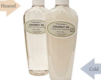 8 OZ Extra Virgin Unrefined 100% Pure Coconut Oil Organic