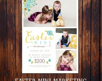 Easter Mini Session Marketing Template - INSTANT DOWNLOAD