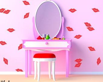 Vinyl Wall Sticker Decal Art - Little Lips