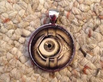 Eyeball Image Pendant Necklace-FREE SHIPPING-
