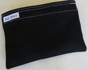 Reusable Eco Friendly Sandwich or Snack Bag Black