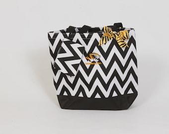 Mizzou Chevron Tote Bag