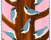 Nuthatch Party Card