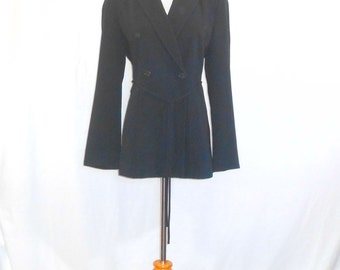 Ann Taylor Navy Blue Double Breasted Blazer Womens Blazer Vintage Blazer Womens Vintage Clothing