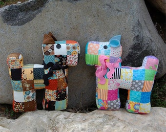 Freddy and Freda Patchwork Puppy Pattern fresh cut quilts downloadable pdf