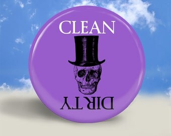 Skull Clean Dirty Dishwasher Magnet - 2.25 Inches