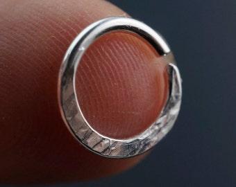 16g SEPTUM RING . Septum Jewelry. Septum Piercing. Sterling Silver Septum Ring. Niobium Nose Ring. Gold Tribal Septum. Nose Piercing