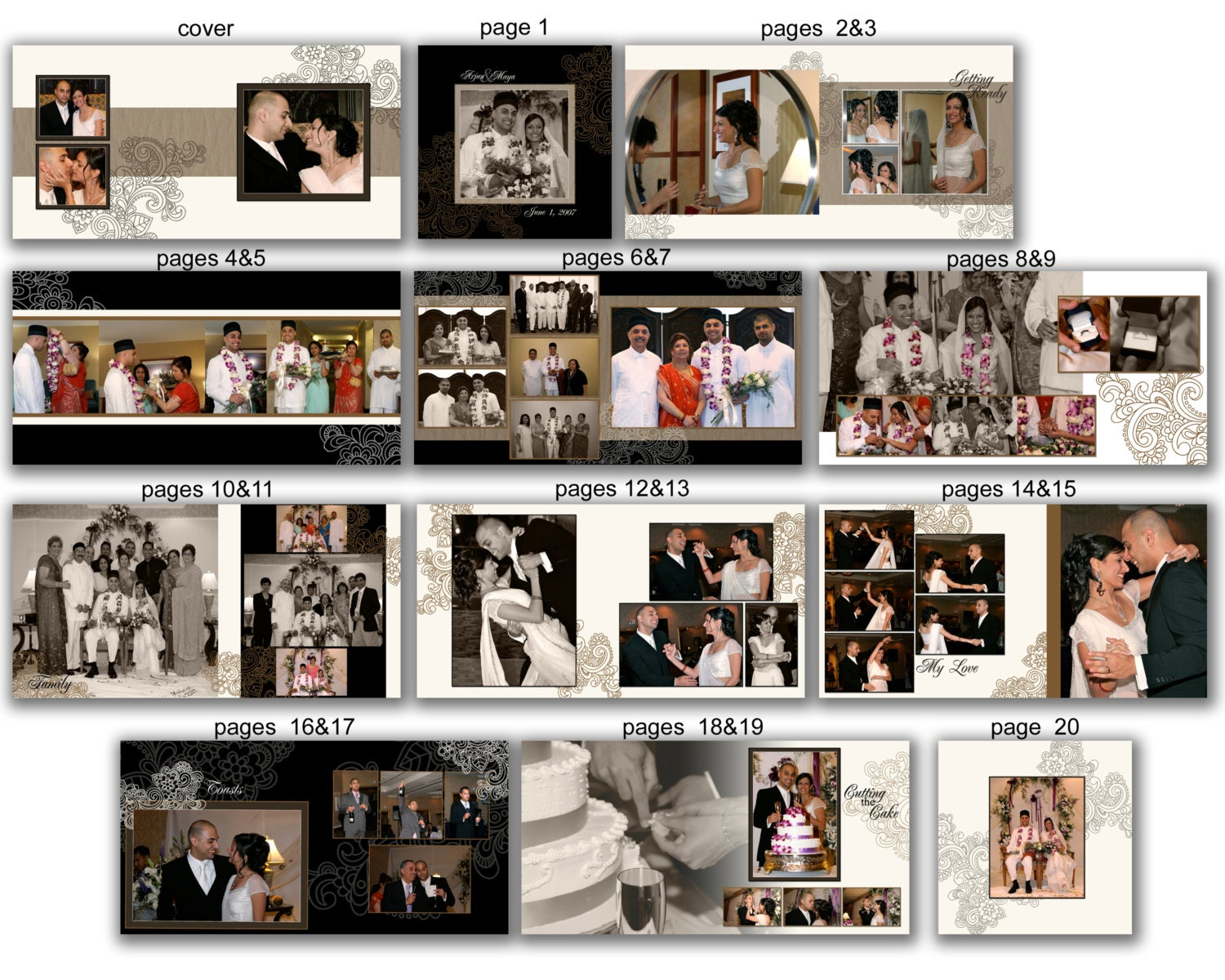 Indian Wedding Album Templates Free Download Wedding Album Template