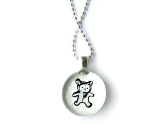 Bear baby necklace