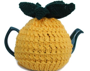 PIneapple tea cosy knitted tea cozy