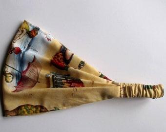 Cotton Yoga Headband More Fruit Ladies Sand Elizabeth Studios fabric
