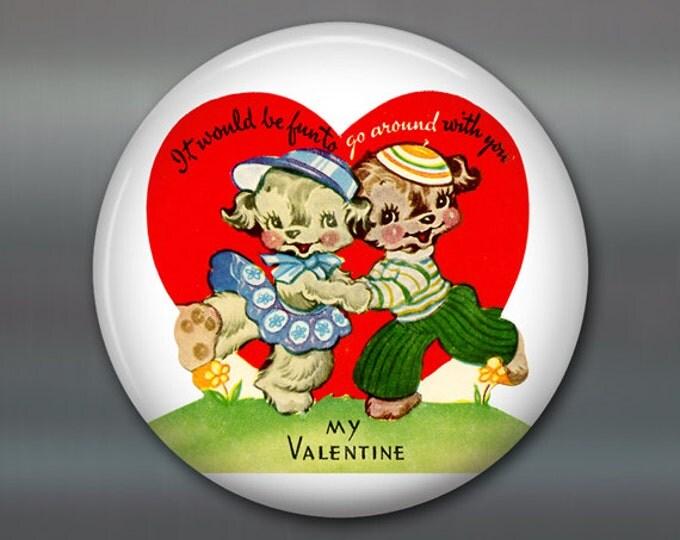 vintage valentine magnet valentine fridge magnet kitchen decor large magnet school valentine card MA-1359