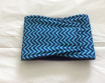 Male Dog Belly Band - Dog Diaper -  Blue Chevron - Available in all sizes
