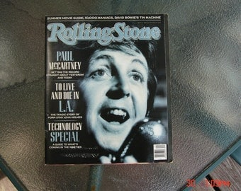 Rolling Stone Magazine with Paul McCarthy on the Cover- June 1989 - Great Condition