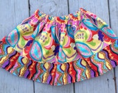 Girls Elastic Waist Boutique Style Twirl Skirt Size 6 - 12 month ready to ship