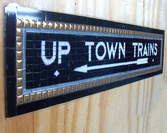 NYC Subway Mosaic Tile or Glass Install / Sign  - New York City