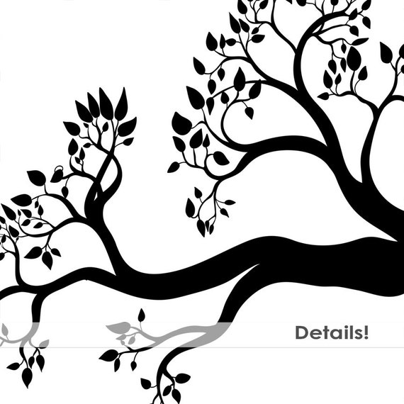Tree Branch Silhouettes, Leaves + Branch ClipArt, ...