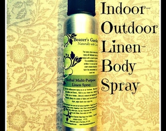 Natural Linen- Air Spray- Home and Living- Room & Body Spray- Organic Home Cleaning Products- Eco Etsy- Holiday Gifts