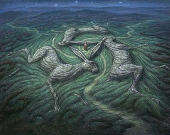Three Hares Tor- Limited edition Giclee print