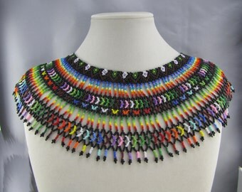 Saraguro Rainbow and Flower Necklace