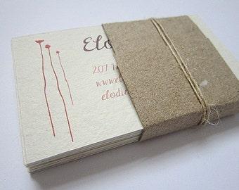 Custom Business Cards - Handmade Paper Business Cards - Custom Printed Cards - Recycled Cards - Eco Friendly Business Cards