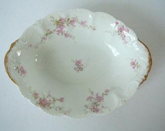 Antique Limoge Theo-Haviland Vegetable Bowl-Porcelain-Made in France
