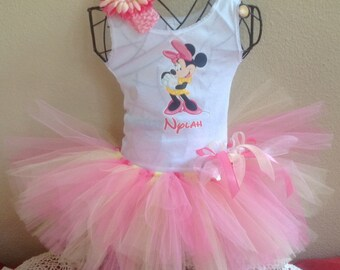 Minnie Mouse Birthday Tutu Outfit, Minnie Mouse Outfit, Minnie Mouse Birthday Outfit