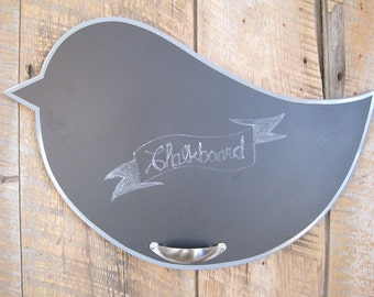 Wall Art Chalkboard Bird with Metal Holder for Chalk