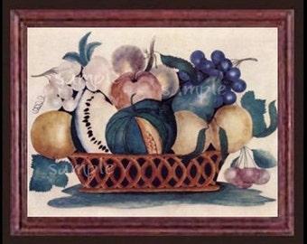 Fruit Still Life Miniature Dollhouse Art Picture 1615