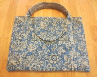 Laptop Case for 13 inch laptop, with Handle, Blue and Beige