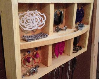 Upcycled Jewelry Organizing Display (Yellow Tray)