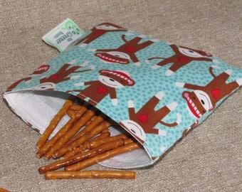 Reusable Snack Bag - Monkeys