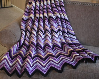 Crochet Afghan, Crazy Cozy...Orchid... This afghan takes about 7 to 10 days to complete, Made to order...
