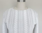SALE - Quilted Cable Basic Sweater