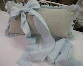 Washed Linen Ruffled Crib Bedding Separates-Ruffled Bumpers, Crib Skirt, Sash Ties, Crib Pillow