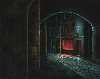 Open by night - Acrylic painting