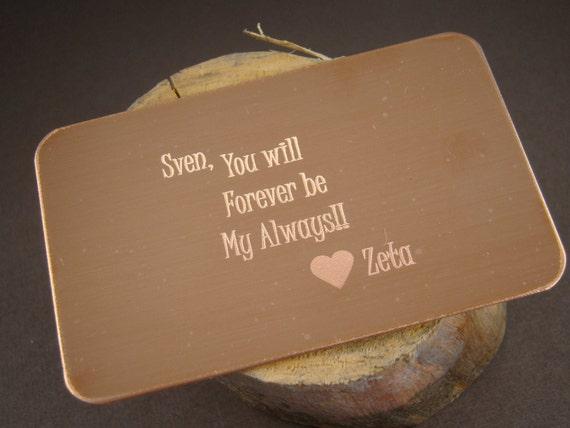 7 Year Wedding Anniversary Gift For Husband : Items similar to 7 Year Wedding Anniversary Gift Idea, Copper ...