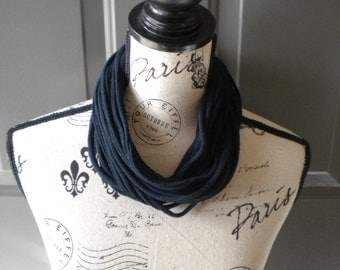 Jersey Scarf Necklace in Black