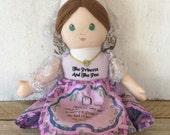 Vintage Princess & the Pea Fabric Story Doll // Vintage Doll // Vintage Toys