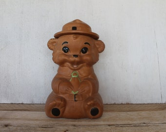 Twin Winton 1960 California Pottery Ranger Scout Bear Cookie Jar