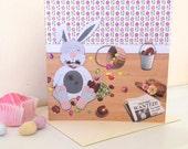 Cheeky Easter Bunny Card